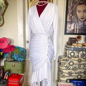 Vintage 80's Ruched Bodycon Cocktail Dress